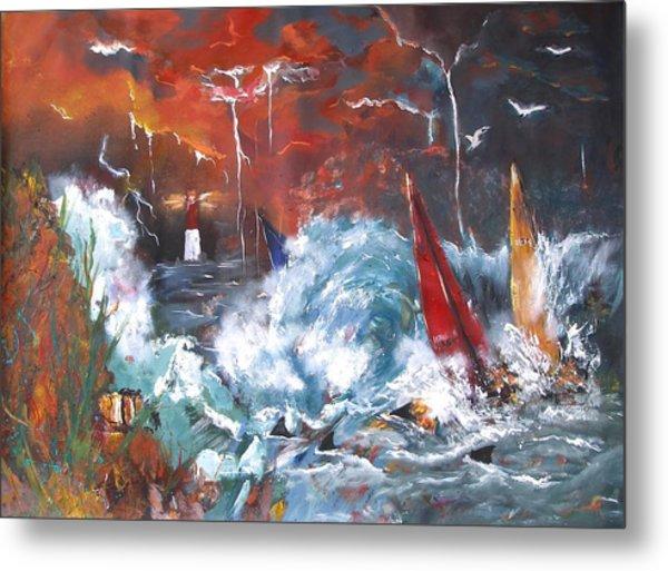 Ocean Fury Metal Print