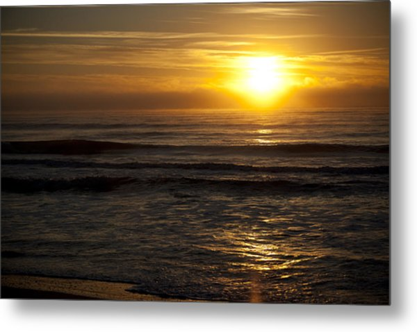 Ocean Sunrise Metal Print by Christina Durity