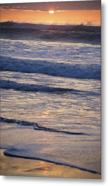 Ocean Sunset Metal Print by Joyce Sherwin