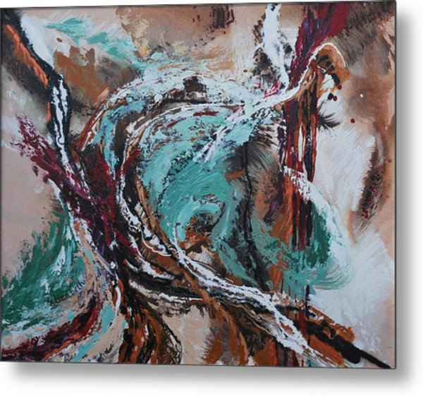 Ocean Wave Abstract Metal Print by Beth Maddox