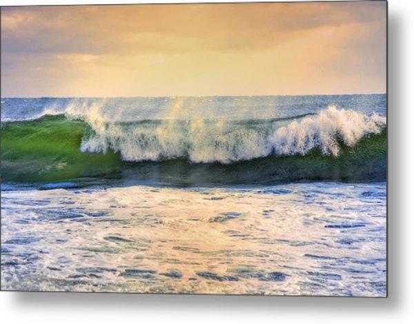 Ocean Waves Metal Print by Dapixara Art