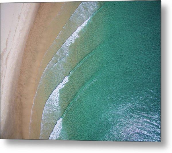 Ocean Waves Upon The Beach Metal Print