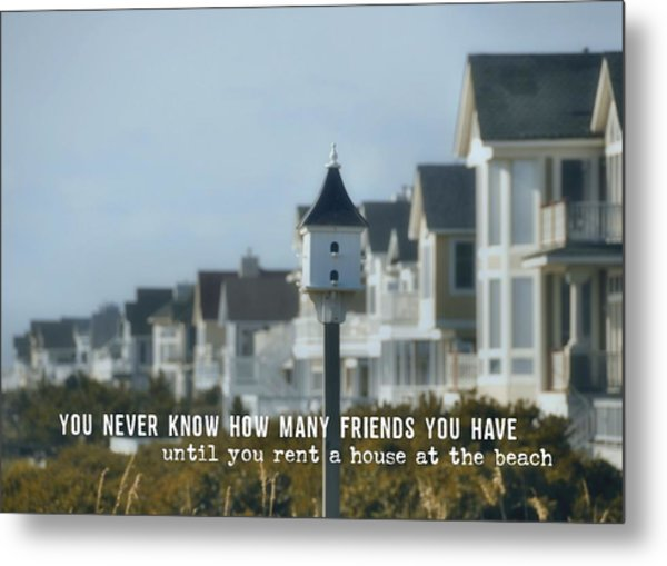 Oceanfront Quote Metal Print by JAMART Photography