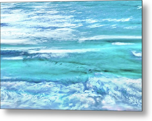 Oceans Of Teal Metal Print
