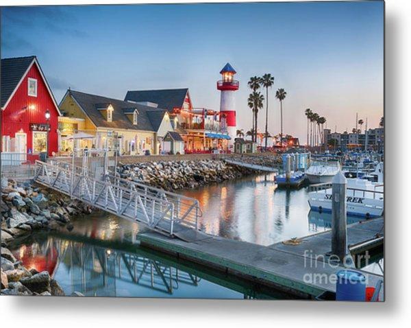 Oceanside Harbor Village At Dusk Metal Print