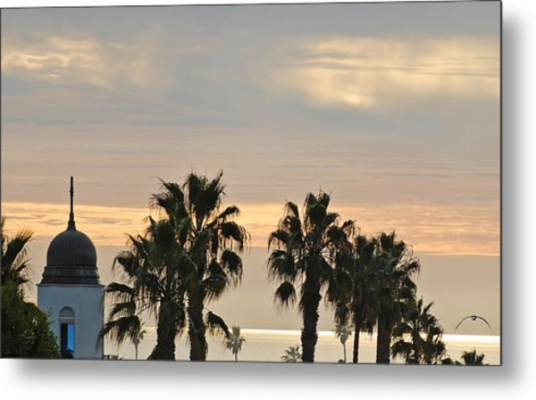 Oceanside Sky Metal Print by Jean Booth