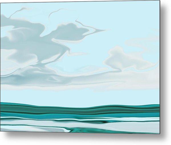 Oceanus Iv Metal Print by Pauline Thomas