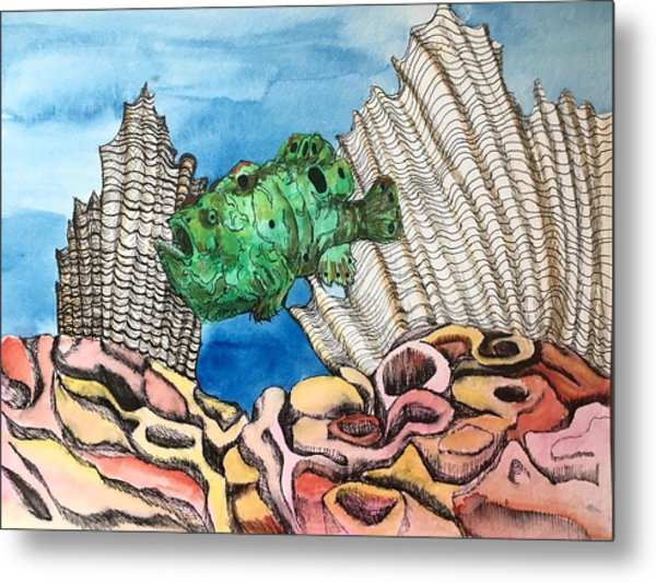 Ocellated Frogfish Metal Print