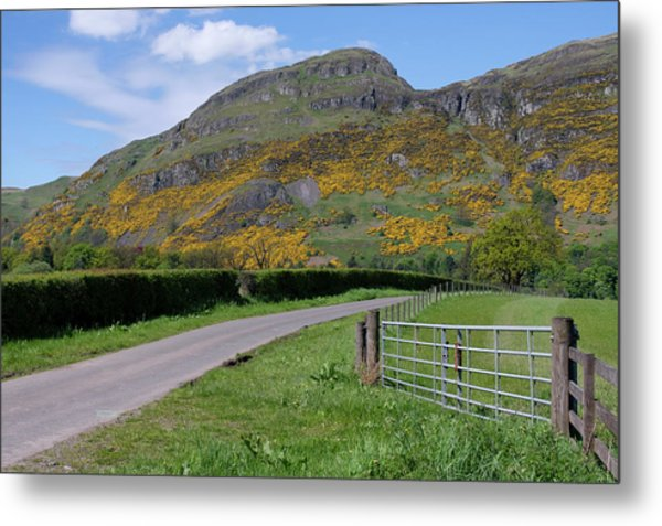 Metal Print featuring the photograph Ochil Hills In Clackmannanshire by Jeremy Lavender Photography