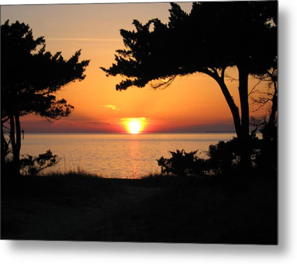 Ocracoke Island Winter Sunset Metal Print