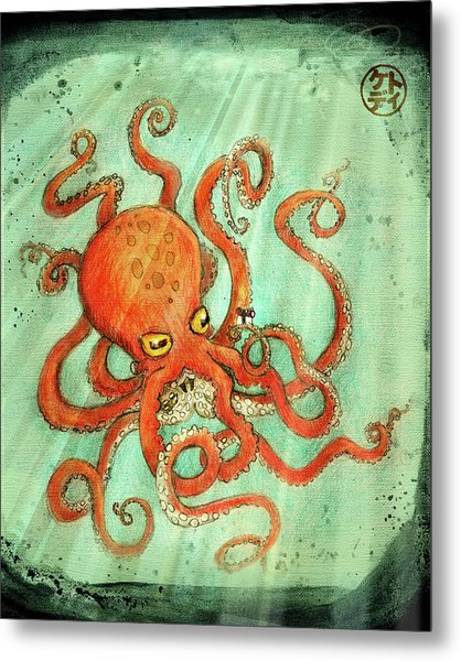 Octo Tako With Surprise Metal Print