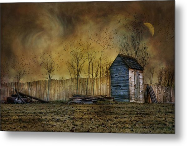 October Outhouse Metal Print
