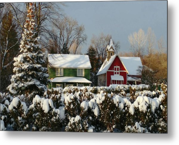 October Snow Metal Print