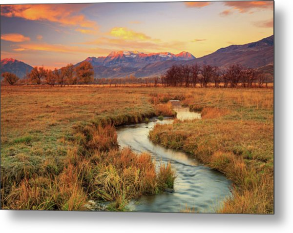 October Sunrise In Heber Valley. Metal Print by Johnny Adolphson