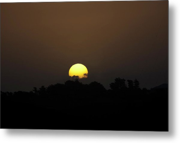 October Sunset Metal Print by Peter Hill