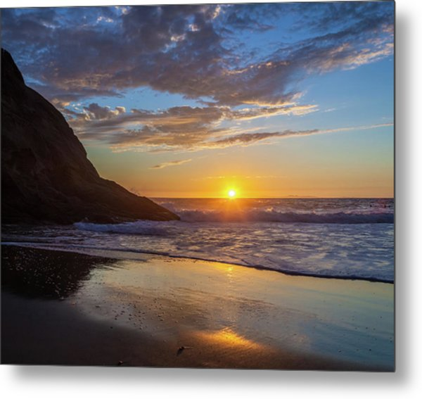 October Sunset Strands Beach Metal Print