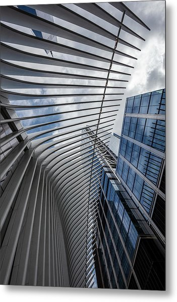 Oculus Center And High Rise Metal Print by Robert Ullmann