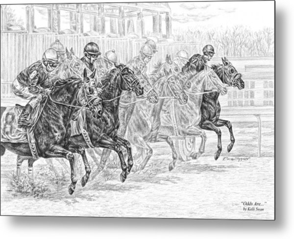 Odds Are... - Tb Race Horse Print Metal Print
