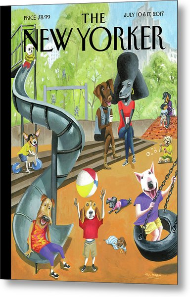 Off The Leash Metal Print
