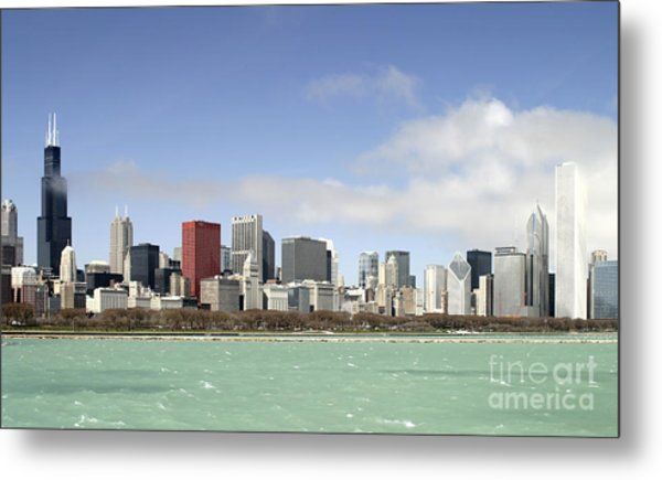 Off The Shore Of Chicago Metal Print