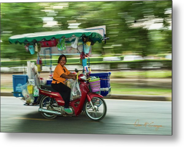 Metal Print featuring the photograph Off To Work by Dan McGeorge