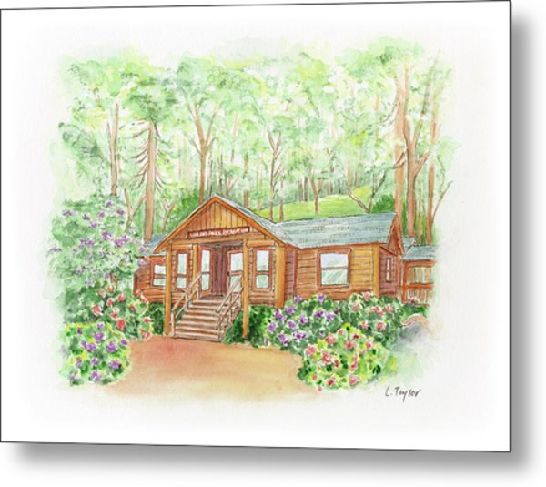 Office In The Park Metal Print