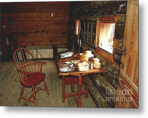 Officers Quarters Fort Stanwix Metal Print by Diane E Berry