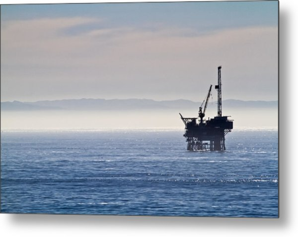 Offshore Oil Drilling Rig Metal Print