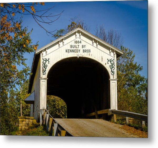 Offutt's Ford Covered Bridge Metal Print