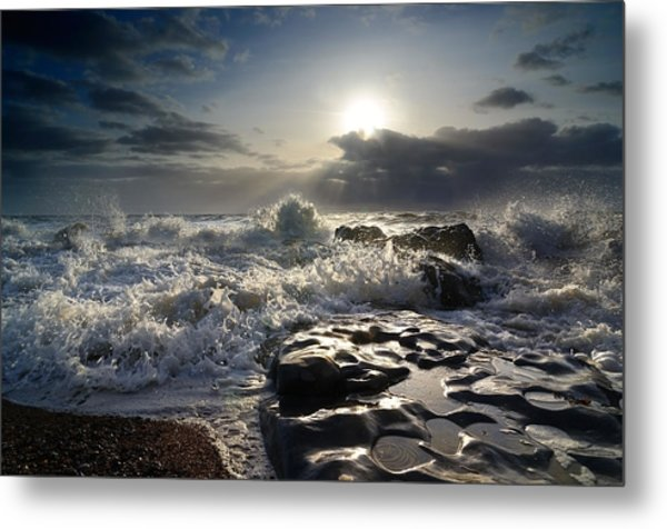 Ogmore By Sea Metal Print