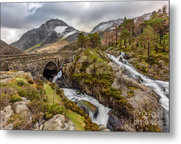 Ogwen Bridge Winter Metal Print