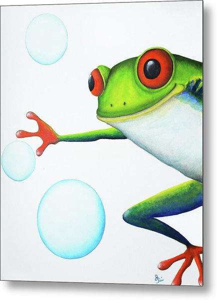 Oh Bubbles Metal Print