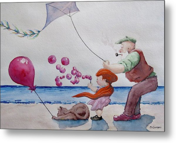 Oh My Bubbles Metal Print