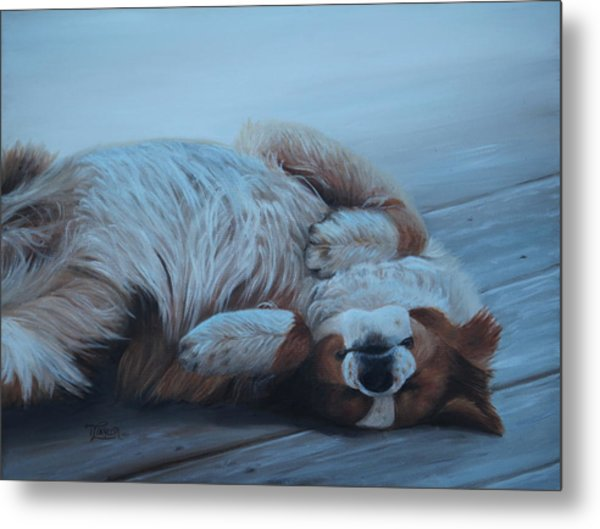 Dog Gone Tired Metal Print