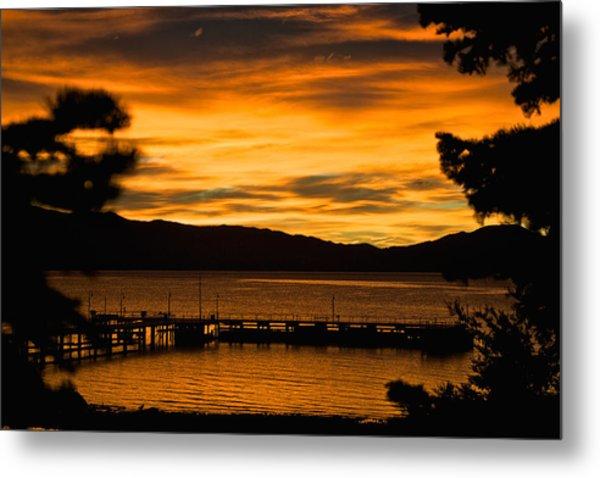 Oh Tahoe Glow Metal Print