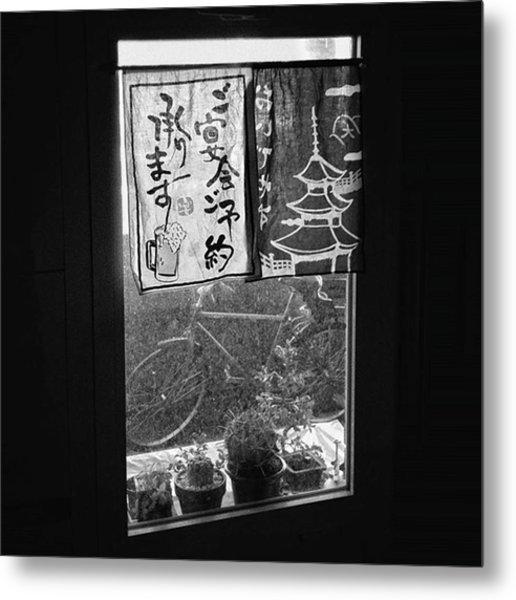 Ohayoo Gozaimasu!  #window #bicycle Metal Print