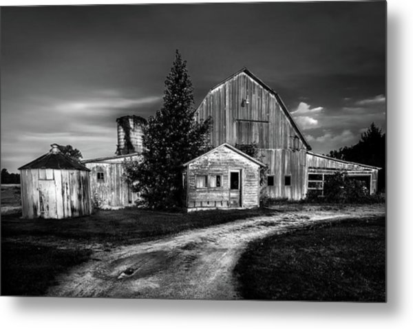 Ohio Barn At Sunrise Metal Print