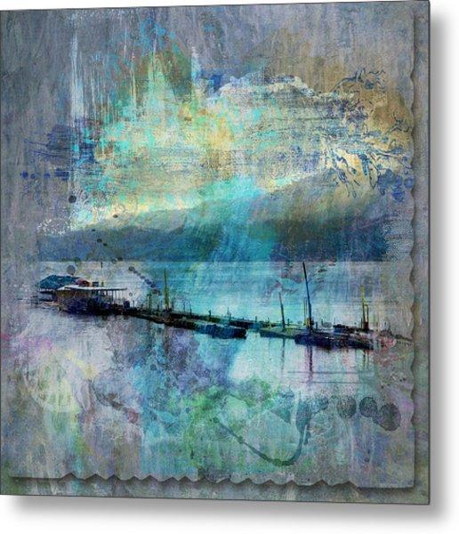 Ohio River Splatter Metal Print