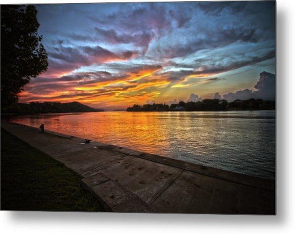 Ohio River Sunset Metal Print