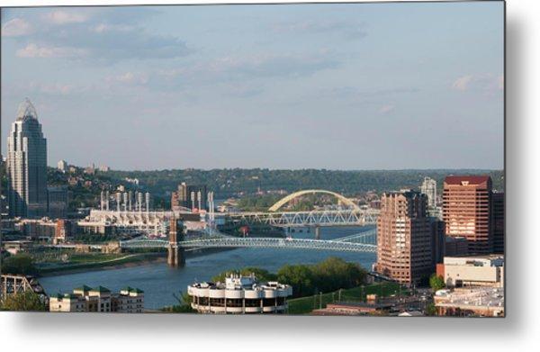 Ohio River's Suspension Bridge Metal Print