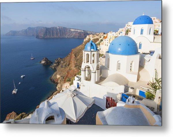 Oia Views, Santorini Greece Metal Print