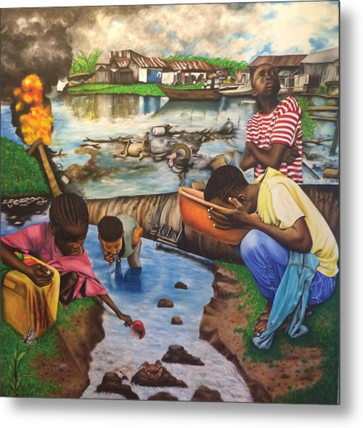 Oil- Africans' Wealth And Woe Metal Print
