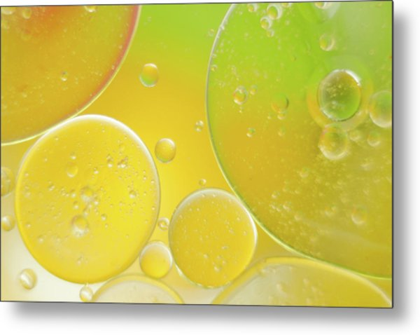 Oil And Water Bubbles  Metal Print