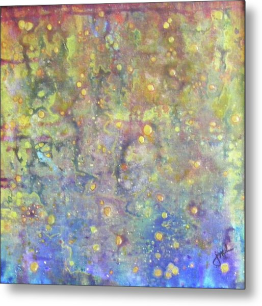 Oil And Water Metal Print by Jean LeBaron