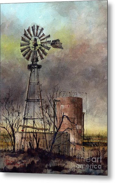 Oil And Water Metal Print