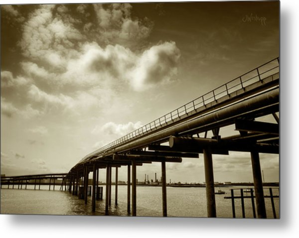 Oil Bridge II Metal Print