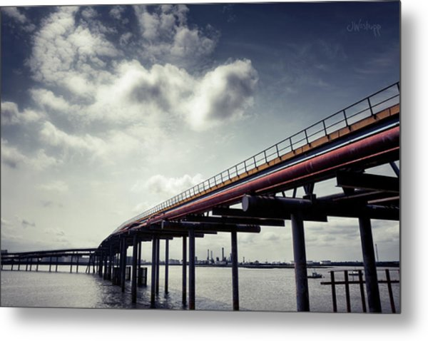 Oil Bridge Metal Print