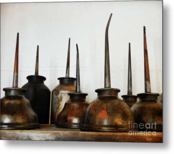 Oil Can, Rusted Metal Print by Laura Atkinson