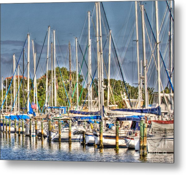 Oil Painting Marina Metal Print