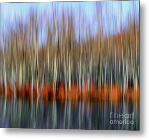 Oil Painting Reflection Metal Print
